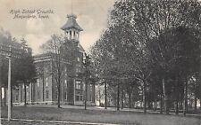 D19/ Maquoketa Iowa Ia Postcard 1909 High School Grounds