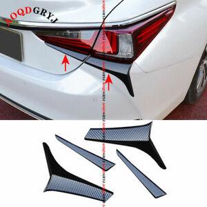 For Lexus ES350 300h 19-22 Carbon Look Rear Tail Light Lamp Moulding Trim Strips