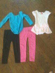Girls Dancewear Leotard Gymnastics lot size 3T 4T xxs