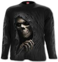 Spiral Direct GRIM RIPPER Long Sleeve T-Shirt/Grim Reaper/Skull/Death/Top/Bones