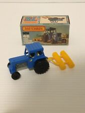 MATCHBOX SUPERFAST NO46 FORD TRACTOR AND HARROW MADE IN ENGLAND