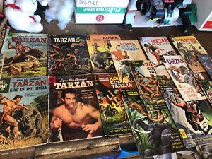 Lot Of 17 1950-60's Tarzan & Korak Son Of Tarzan Comic Books Great Condition