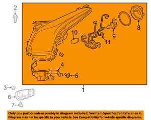 Cadillac GM OEM 13-15 ATS-Headlight Head Light Headlamp 23236366