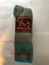 REAL TREE Wool Blend Socks 2 Pairs Of Womens Shoe Size 6-9