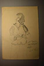 Russian of naive artist Katya Medvedeva Ink paper 1985