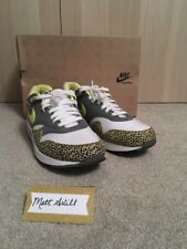 Nike Air Max 1 One Safari Atmos UK 10.5 Blanc tension jaune Leopard Baskets