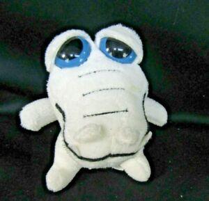 """Aurora Dreamy Eye White Alligator Plush 5""""  Blue Eyes Sitting NO SOUND"""