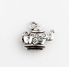 40pcs Tea Pot And Cup Tibetan Silver Charms Pendants Jewelry Making 6E4C5F