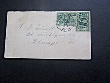 Canfield, OH cancel, #232 on Cover, 1905, sent to Chicago, back flap off,