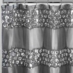 Sparkly Shower Curtain Unique Sequin Fabric Bling Sparkle Gorgeous Bathroom NEW!