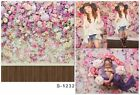 3x5ft Vinyl Photography Background Flower Wall Wood Floor Backdrops Studio Props
