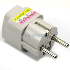 UK US AU To EU EURO France Germany Travel Adaptor Adapter Converter Outlet Plug