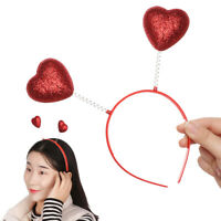 Valentine Headband Red Love Heart Headhoop Hair Hoop For Valentine's Day Party