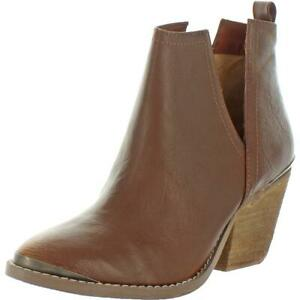 Not Rated Women's For My Peeps Faux Leather Almond Toe Heeled Ankle Booties