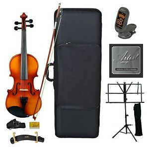 Artist SVN44 Solid Wood Student Violin Package 4/4 Ultimate Pack - New