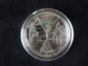 2011 SILVER PROOF WITH HOLOGRAM SAMOA $10 COIN QUEEN DIAMOND JUBILEE