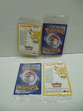 Pokemon Legendary Birds Promo Cards Still Sealed X4  Articuno Moltres Zapdos