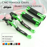 Folding Brake Clutch Levers Handle Grip for KAWASAKI NINJA ZX-9R 00-03 10R 04-05
