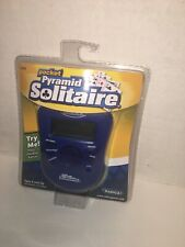 Radica Pyramid Solitaire Handheld electronic Game Blue NEW batteries included