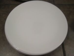 CORELLE 'WINTER FROST WHITE' 10¼' DINNER PLATES, SET OF (4), NEW
