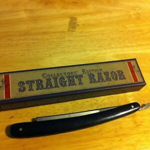 Rough Rider Collector's Edt. Dark Blue Smooth Bone Masonic Straight Razor RR1205