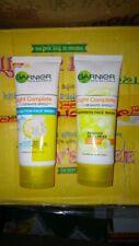 2 X Garnier Skin Naturals Light Complete White Speed Duo Action Face Wash 100gm