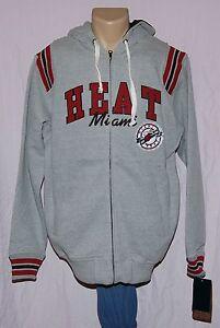 Miami Heat GIII Sports Hoodie Full Zip Fleece Sweatshirt S - NBA Men's