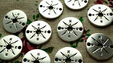 Compass 5 charms silver nautical pendant charm jewellery supplies C1374