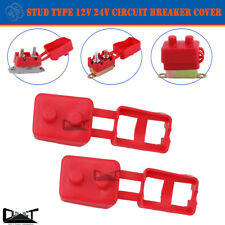2x Circuit Breaker Cover Protective 12V 24V Stud Type Insulated PVC Protector