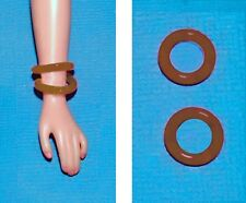 """Dreamz BROWN BRACELET BANGLES SET of TWO made for 11"""" Barbie Doll Jewelry"""