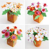 DIY Non-woven Artificial Flower Pot Childrens Educational Toy Handmade Craft