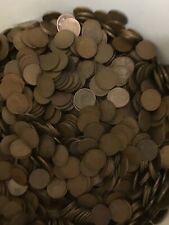 1000 Circulated Wheat Pennies lot P D S PDS FREE SHIPPING