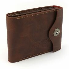 Mens Luxury Soft Quality Leather Wallet Credit Card Holder Brown Purse