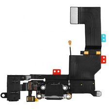 Black Iphone 5S 5GS Headphone Audio Charger Charging Data USB Port Flex Cable