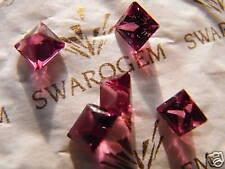 Rhodolithe pink rose princess diamond cut by Swarovski