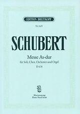Schubert : Messe As-dur für Soli, Chor, Orchester und Orgel D678