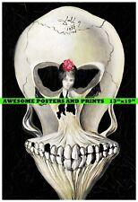 SALVADOR DALI, BALLERINE EN TETE DE MORT(BALLERINA & SKULL) LARGE REPRINT 13x19