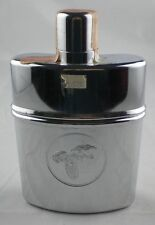 Wild Turkey Bourbon Whiskey Chrome Flask Glass Lined w/embossed logo 200 ml