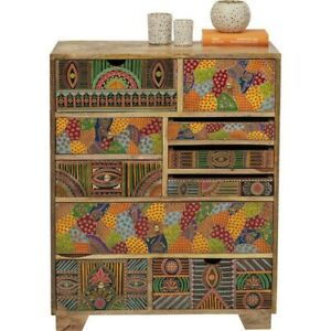 Vivid India Contemporary Mango Wood Tallboy Chest of drawers (MADE TO ORDER)