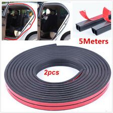 2PCS 5M Seal Strip Car Door Hood Trim Edge B Shape Moulding Rubber Weatherstrip