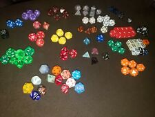101 DnD Dice 12 20 100 Sided Die Lot Strategy role playing Dungeons Dragons rare
