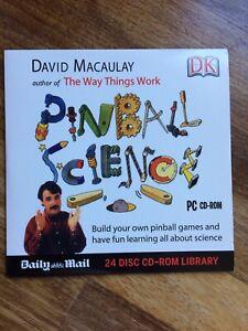 PC CD-ROM Pinball Science (by David Macaulay) DK / Daily Mail Promo
