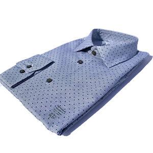 GEOFFREY BEENE Size L 16 - 16 1/2 36/37 Regular FIT STRETCH Flex Printed Shirt