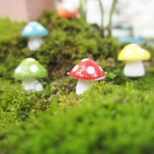 10x Multi-color Mushrooms Bonsai Toadstool Miniature Garden Terrarium Figurine
