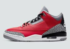 """Air Jordan 3 Retro """"Red Cement"""" Fire Red/Fire Red-Cement Grey (GS)"""