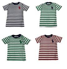 GENUINE Polo Ralph Lauren Kids Cotton Striped T Shirt 'Big Pony'  Age 2-16