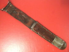 WWII US Army M6 Leather Scabbard for M3 Fighting Knife - MILSCO 1943 - Orignal