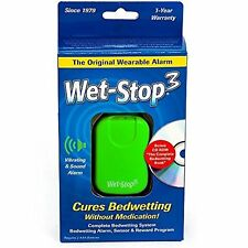 Wet-Stop3 Green Bedwetting Enuresis Alarm with Sound and Vibration Bed