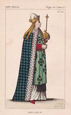 Portrait Lothaire Ier Roi d' Italie & de Lotharingie Empereur d'Occident