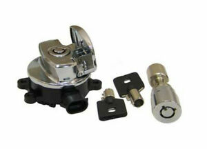 Ignition Key Switch Chrome for Harley Davidson by V-Twin